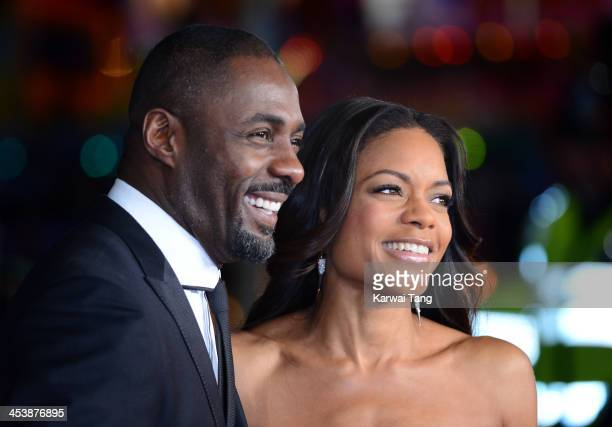 Idris Elba and Naomie Harris attend the Royal film performance of Mandela Long Walk To Freedom held at the Odeon Leicester Square on December 5 2013...
