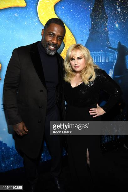 Idris Elba and Rebel Wilson attend The World Premiere of Cats, presented by Universal Pictures on December 16, 2019 in New York City.