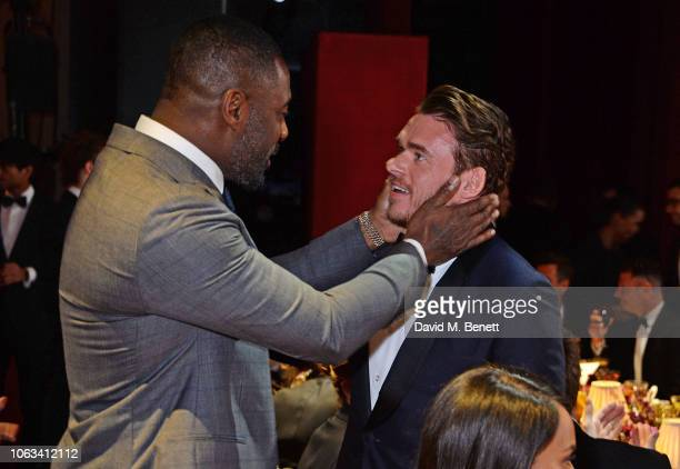 Idris Elba and Richard Madden attend The 64th Evening Standard Theatre Awards at the Theatre Royal, Drury Lane, on November 18, 2018 in London,...
