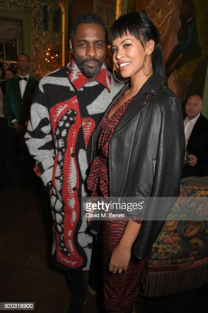 Idris Elba and Sabrina Dhowre attend as Tiffany Co partners with British Vogue Edward Enninful Steve McQueen Kate Moss and Naomi Campbell to...