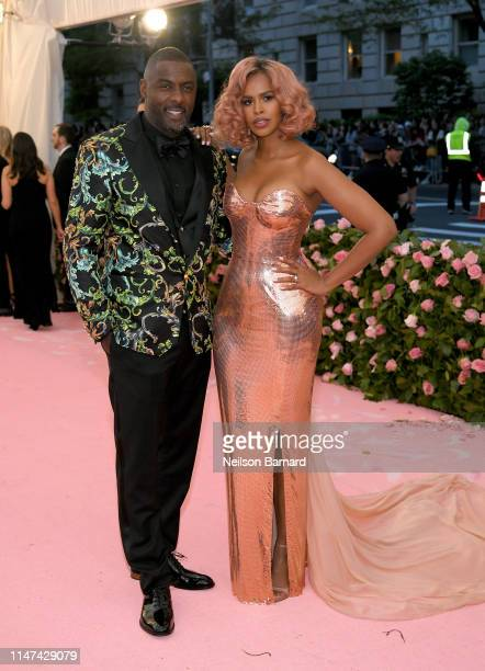 Idris Elba and Sabrina Dhowre attend The 2019 Met Gala Celebrating Camp: Notes on Fashion at Metropolitan Museum of Art on May 06, 2019 in New York...