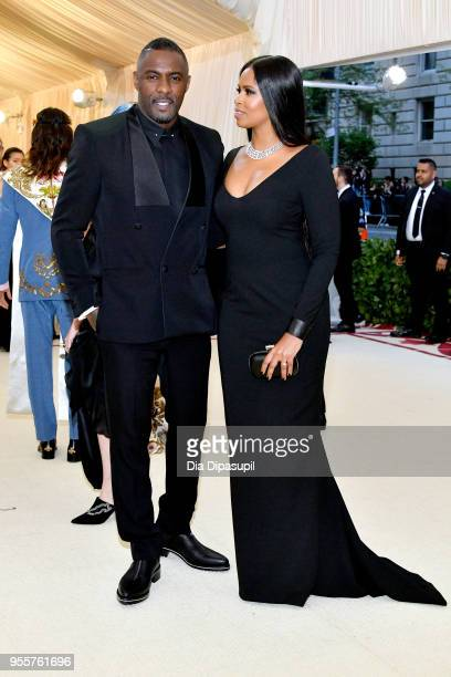 Idris Elba and Sabrina Dhowre attend the Heavenly Bodies Fashion The Catholic Imagination Costume Institute Gala at The Metropolitan Museum of Art on...