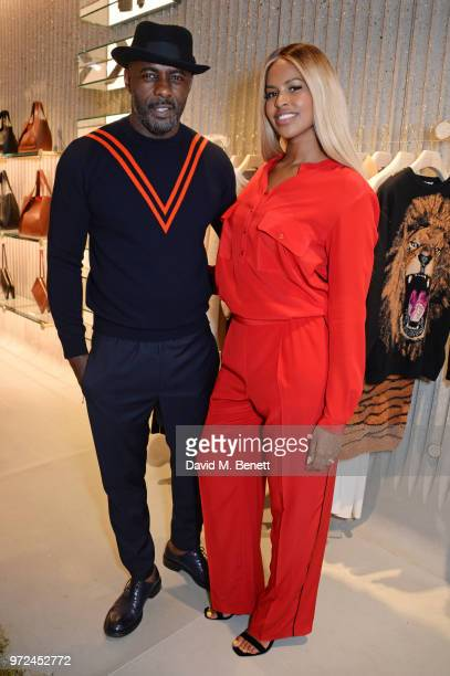 Idris Elba and Sabrina Dhowre attend the launch of the Stella McCartney Global flagship store on Old Bond Street on June 12 2018 in London England