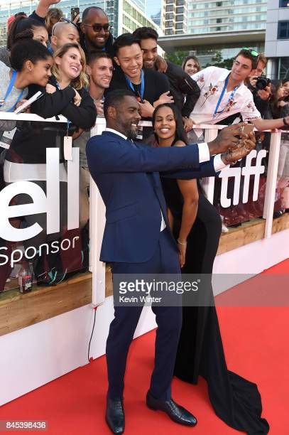 Idris Elba and Sabrina Dhowre attend The Mountain Between Us premiere during the 2017 Toronto International Film Festival at Roy Thomson Hall on...