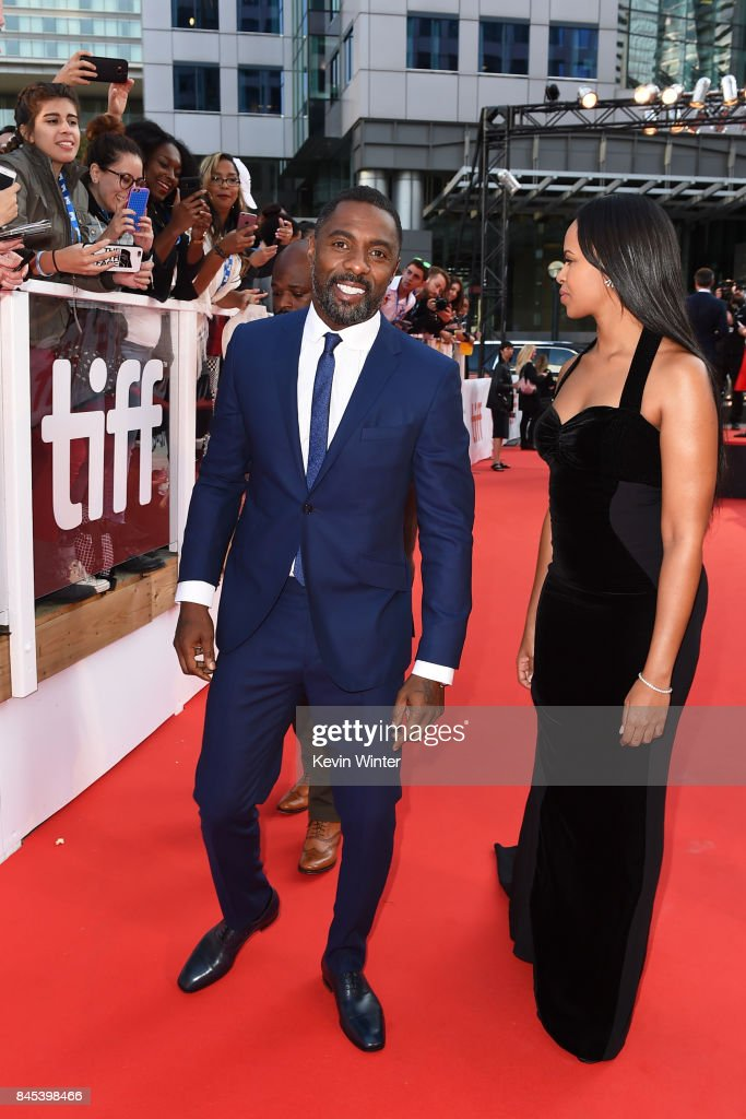 Idris Elba (L) and Sabrina Dhowre attend 'The Mountain Between Us' premiere during the 2017 Toronto International Film Festival at Roy Thomson Hall on September 10, 2017 in Toronto, Canada.