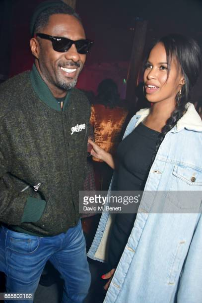 Idris Elba and Sabrina Dhowre attend the OffWhite x Dazed Fashion Awards after party at RUIN 180 The Strand on December 4 2017 in London England
