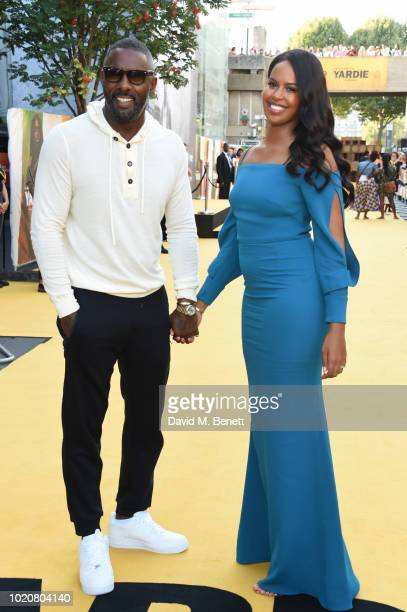 Akin Gazi and guest attend the UK Premiere of 'Yardie' at BFI Southbank on August 21 2018 in London England