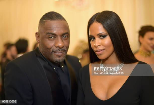 Idris Elba and Sabrina Dhowre attends the Heavenly Bodies Fashion The Catholic Imagination Costume Institute Gala at The Metropolitan Museum of Art...
