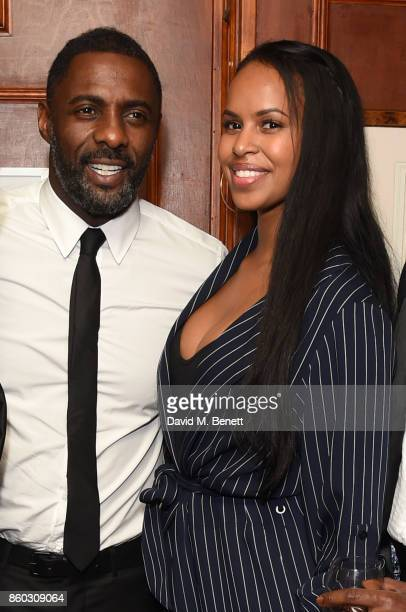 Idris Elba and Sabrina Dhowre attends the The BARDOU Foundation's International Day Of The Girl Gala in support of The Princes Trust at Albert's Club...