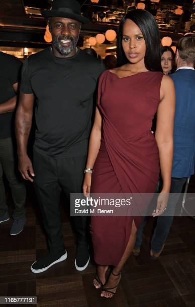 Idris Elba and Sabrina Dhowre Elba attend the official launch party of Lucky Cat by Gordon Ramsay in Grosvenor Square, Mayfair on September 2, 2019...
