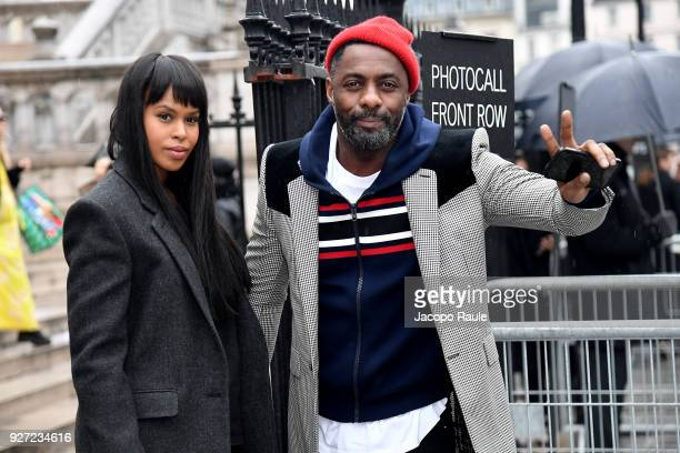 Idris Elba and Sabrina Dowhre are seen arriving at Givenchy fashion show during Paris Fashion Week Womenswear Fall/Winter 2018/2019 on March 4 2018...