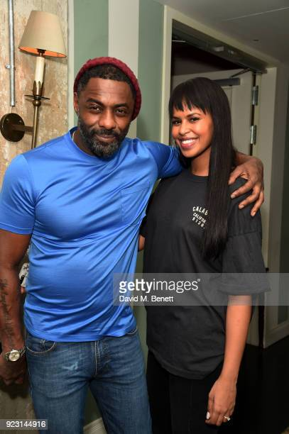 Idris Elba and Sabrina Dowhre attend the Idris Elba Yardie Screening AfterParty Berlin IFF at Soho House on February 22 2018 in Berlin Germany