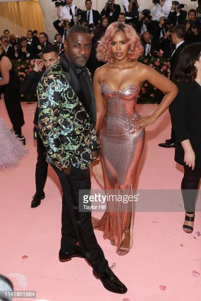 "Idris Elba and Sabrina Elba attend the 2019 Met Gala celebrating ""Camp: Notes on Fashion"" at The Metropolitan Museum of Art on May 6, 2019 in New..."