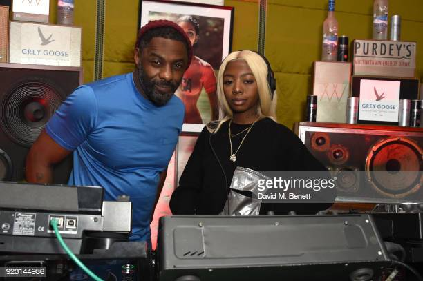 Idris Elba and Siobhan Bell attend the Idris Elba Yardie Screening AfterParty Berlin IFF at Soho House on February 22 2018 in Berlin Germany
