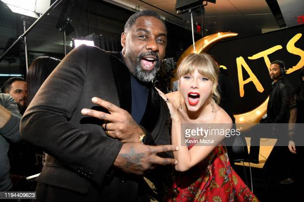 Idris Elba and Taylor Swift attend The World Premiere of Cats, presented by Universal Pictures on December 16, 2019 in New York City.