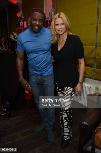 Idris Elba and Veronica Ferres attend the Idris Elba Yardie Screening AfterParty Berlin IFF at Soho House on February 22 2018 in Berlin Germany