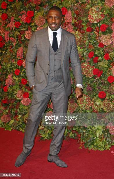 Idris Elba arrives at The 64th Evening Standard Theatre Awards at the Theatre Royal, Drury Lane, on November 18, 2018 in London, England.