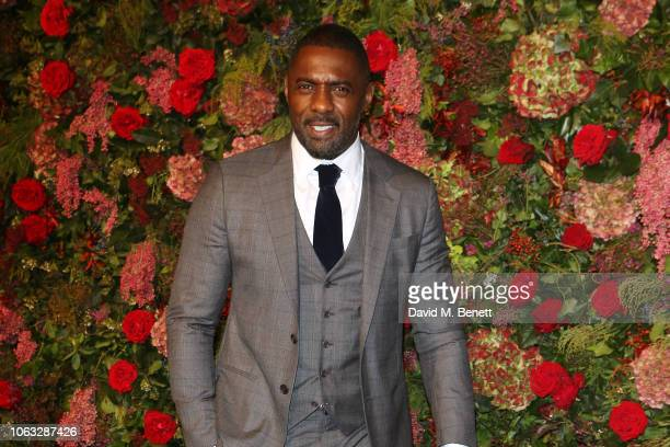 Idris Elba arrives at The 64th Evening Standard Theatre Awards at the Theatre Royal Drury Lane on November 18 2018 in London England