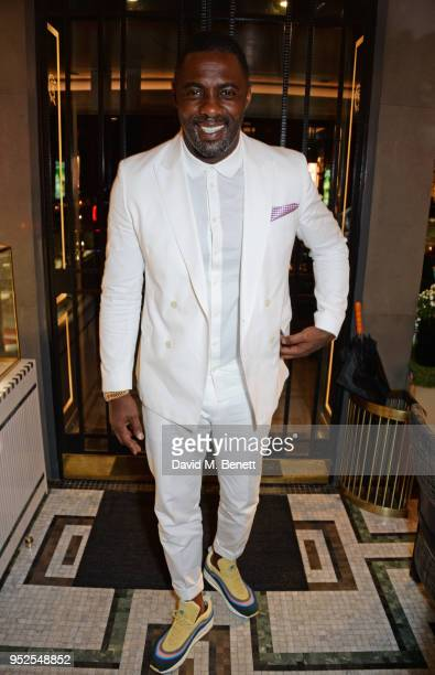 Idris Elba arrives at the ABB Formula E Qatar Airways Paris EPrix official after party on April 28 2018 in Paris France