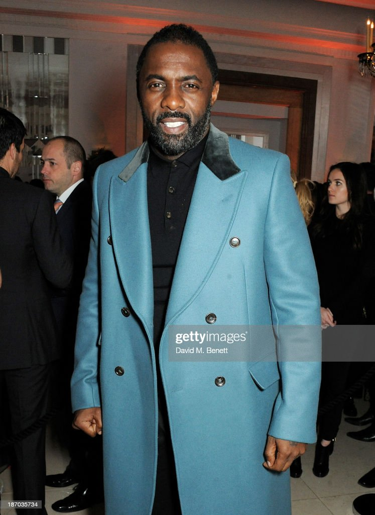 Idris Elba arrives at the Harper's Bazaar Women of the Year awards at Claridge's Hotel on November 5, 2013 in London, England.