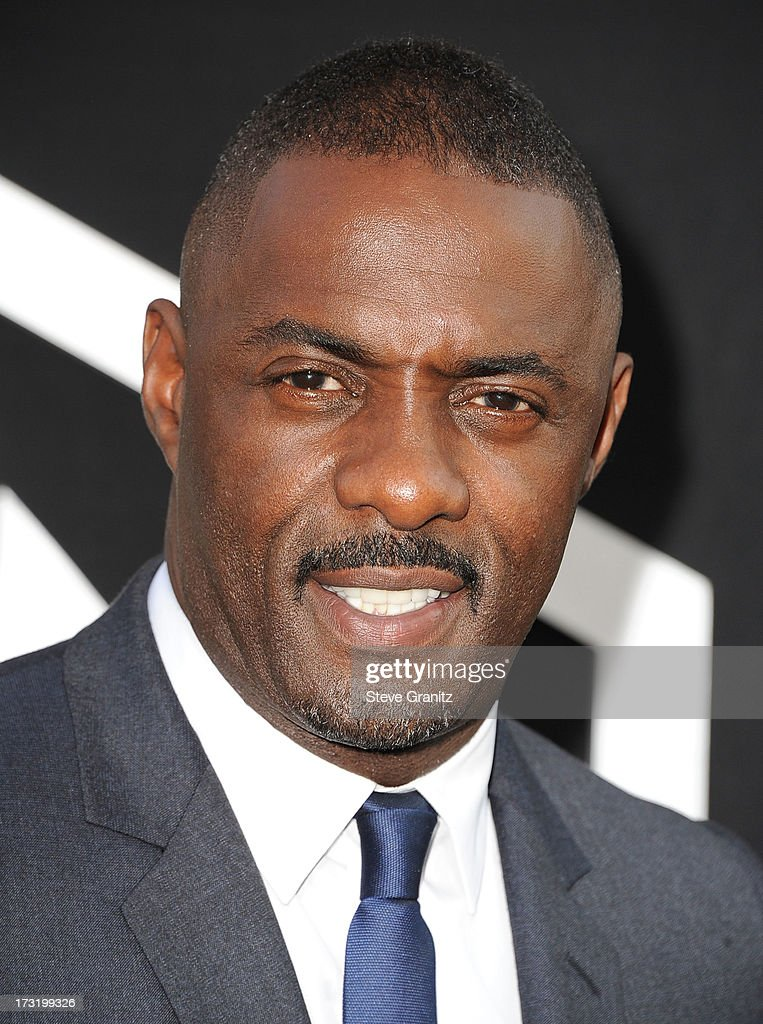 Idris Elba arrives at the 'Pacific Rim' - Los Angeles Premiere at Dolby Theatre on July 9, 2013 in Hollywood, California.