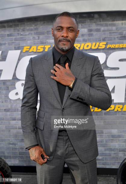 Idris Elba arrives at the premiere of Universal Pictures' Fast Furious Presents Hobbs Shaw at Dolby Theatre on July 13 2019 in Hollywood California