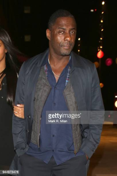 Idris Elba at the launch night of Soho House Television Centre on April 11 2018 in London England