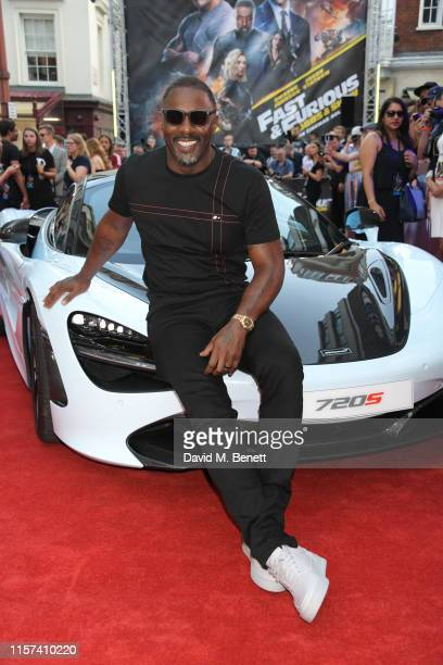 """Idris Elba attends a special screening of """"Fast & Furious: Hobbs & Shaw"""" at The Curzon Mayfair on July 23, 2019 in London, England."""