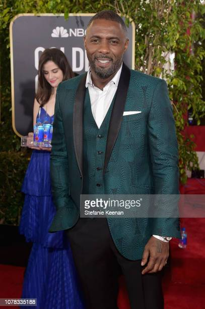 Idris Elba attends FIJI Water at the 76th Annual Golden Globe Awards on January 6 2019 at the Beverly Hilton in Los Angeles California