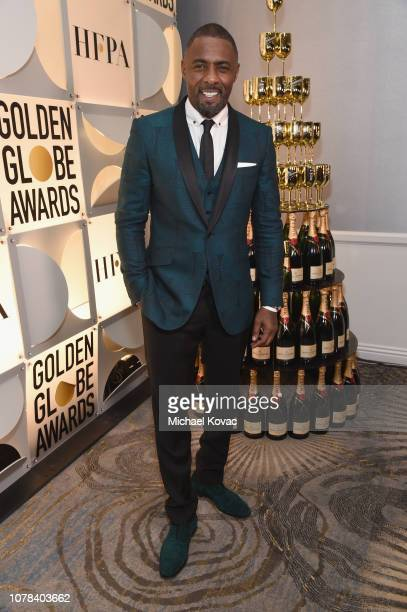 Idris Elba attends Moet Chandon at The 76th Annual Golden Globe Awards at The Beverly Hilton Hotel on January 6 2019 in Beverly Hills California