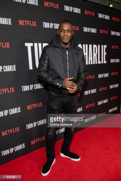Idris Elba attends Netflix's 'Turn Up Charlie' For Your Consideration event at Pacific Design Center on March 02, 2019 in West Hollywood, California.