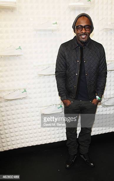 Idris Elba attends the @adidasuk #stansmith popup shop launch event on January 15 2014 in London England