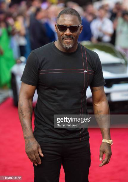 """Idris Elba attends the """"Fast & Furious: Hobbs & Shaw"""" Special Screening at The Curzon Mayfair on July 23, 2019 in London, England."""