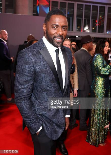 """Idris Elba attends """"The Harder They Fall"""" World Premiere during the 65th BFI London Film Festival at The Royal Festival Hall on October 6, 2021 in..."""