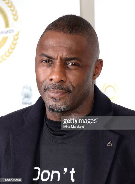 Idris Elba attends the National Film Awards at Porchester Hall on March 27 2019 in London England