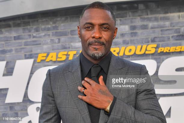 Idris Elba attends the premiere of Universal Pictures' Fast Furious Presents Hobbs Shaw at Dolby Theatre on July 13 2019 in Hollywood California