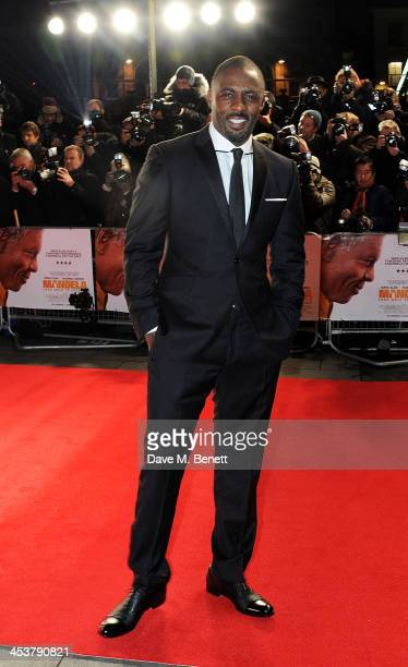 """Idris Elba attends the Royal Film Performance of """"Mandela: Long Walk to Freedom"""" at Odeon Leicester Square on December 5, 2013 in London, United..."""