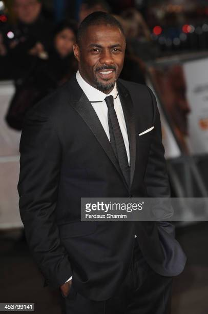 Idris Elba attends the Royal film performance of Mandela Long Walk To Freedom at Odeon Leicester Square on December 5 2013 in London United Kingdom