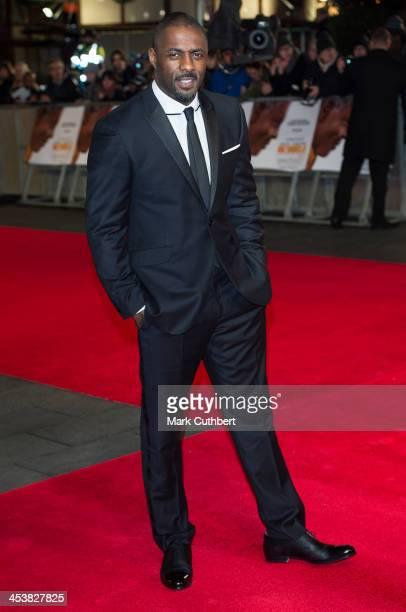 "Idris Elba attends the Royal film performance of ""Mandela: Long Walk To Freedom"" on December 5, 2013 in London, United Kingdom."