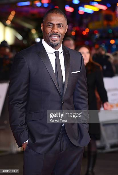 Idris Elba attends the Royal film performance of 'Mandela Long Walk To Freedom' held at the Odeon Leicester Square on December 5 2013 in London...
