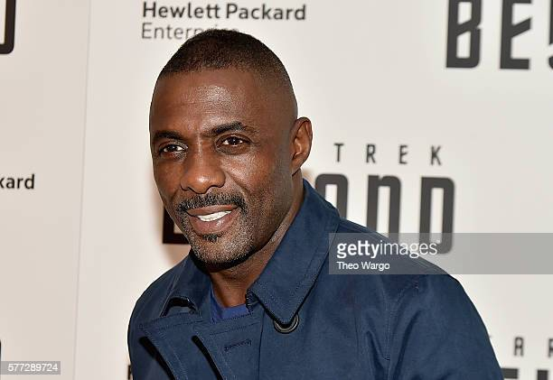 Idris Elba attends the Star Trek Beyond New York Premiere at Crosby Street Hotel on July 18 2016 in New York City