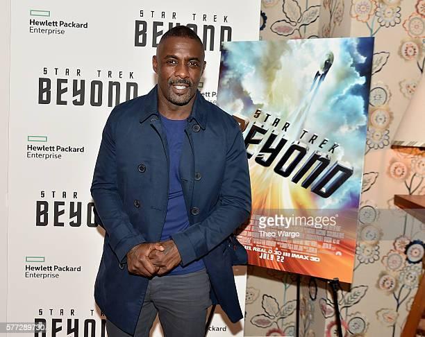 "Idris Elba attends the ""Star Trek Beyond"" New York Premiere at Crosby Street Hotel on July 18, 2016 in New York City."
