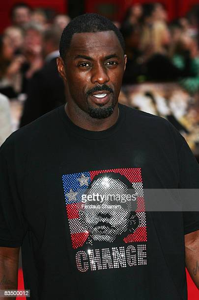 Idris Elba attends the World Premiere of 'RocknRolla' held at the Odeon West End Leicester Square on September 1 2008 in London England