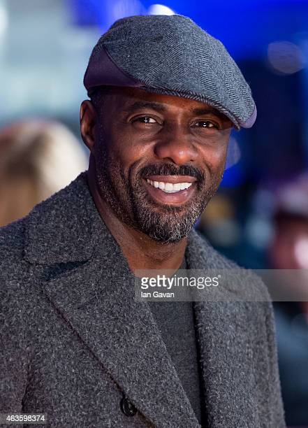 Idris Elba attends the World Premiere of The Gunman at BFI Southbank on February 16 2015 in London England
