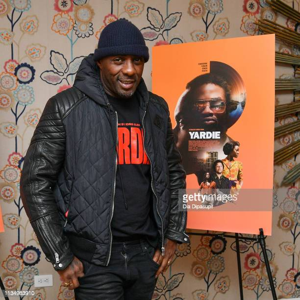 Idris Elba attends the 'Yardie' New York screening at the Crosby Hotel on March 10 2019 in New York City