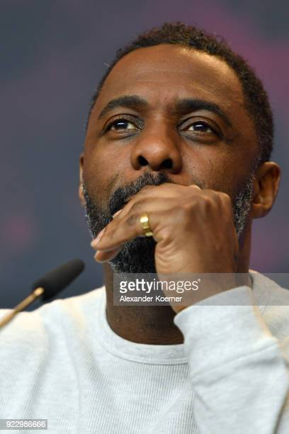 Idris Elba attends the 'Yardie' press conference during the 68th Berlinale International Film Festival Berlin at Grand Hyatt Hotel on February 22...