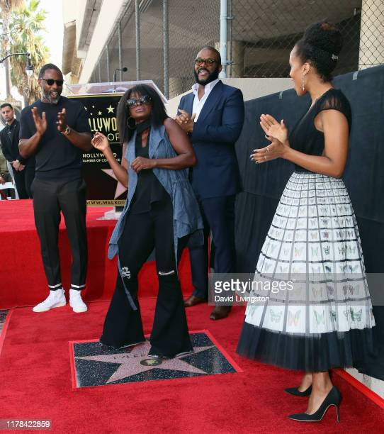 Idris Elba Crystal Fox Tyler Perry and Kerry Washington attend Tyler Perry being honored with a Star on the Hollywood Walk of Fame on October 01 2019...