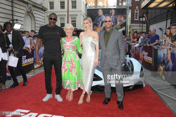"""Idris Elba, Dame Helen Mirren, Vanessa Kirby and Jason Statham attend a special screening of """"Fast & Furious: Hobbs & Shaw"""" at The Curzon Mayfair on..."""