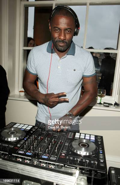 Idris Elba DJ's at attends the Esquire Summer Party in association with Stella Artois at Somerset House on May 29 2013 in London England