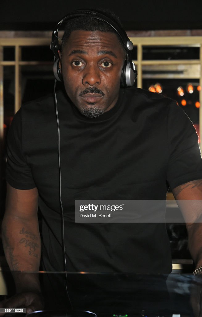 Idris Elba DJs at his Christmas Party at Kadie's Cocktail Bar & Club on December 9, 2017 in London, England.